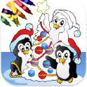 圣诞填色图画本!